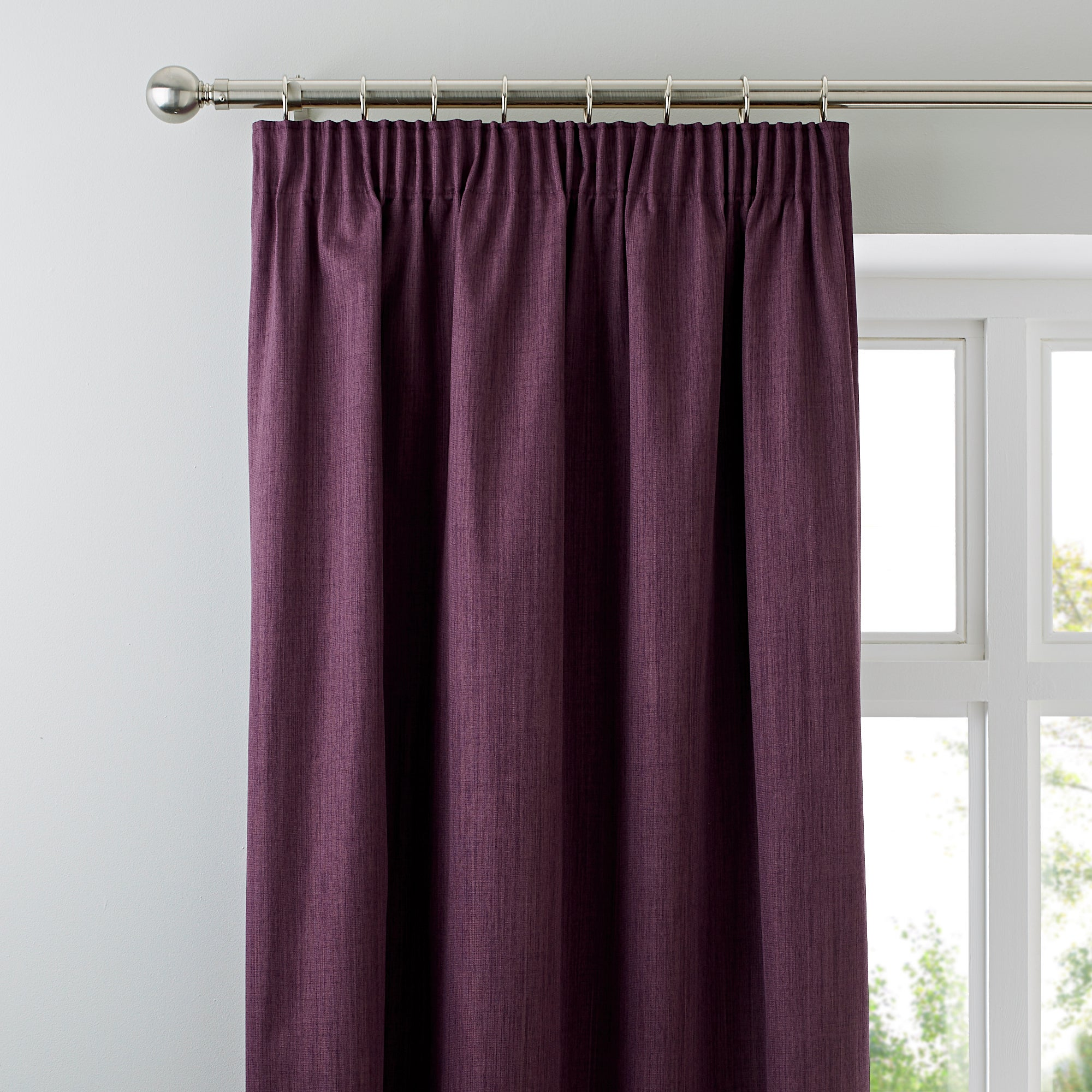 Waters and Noble Aubergine Solar Blackout Curtains