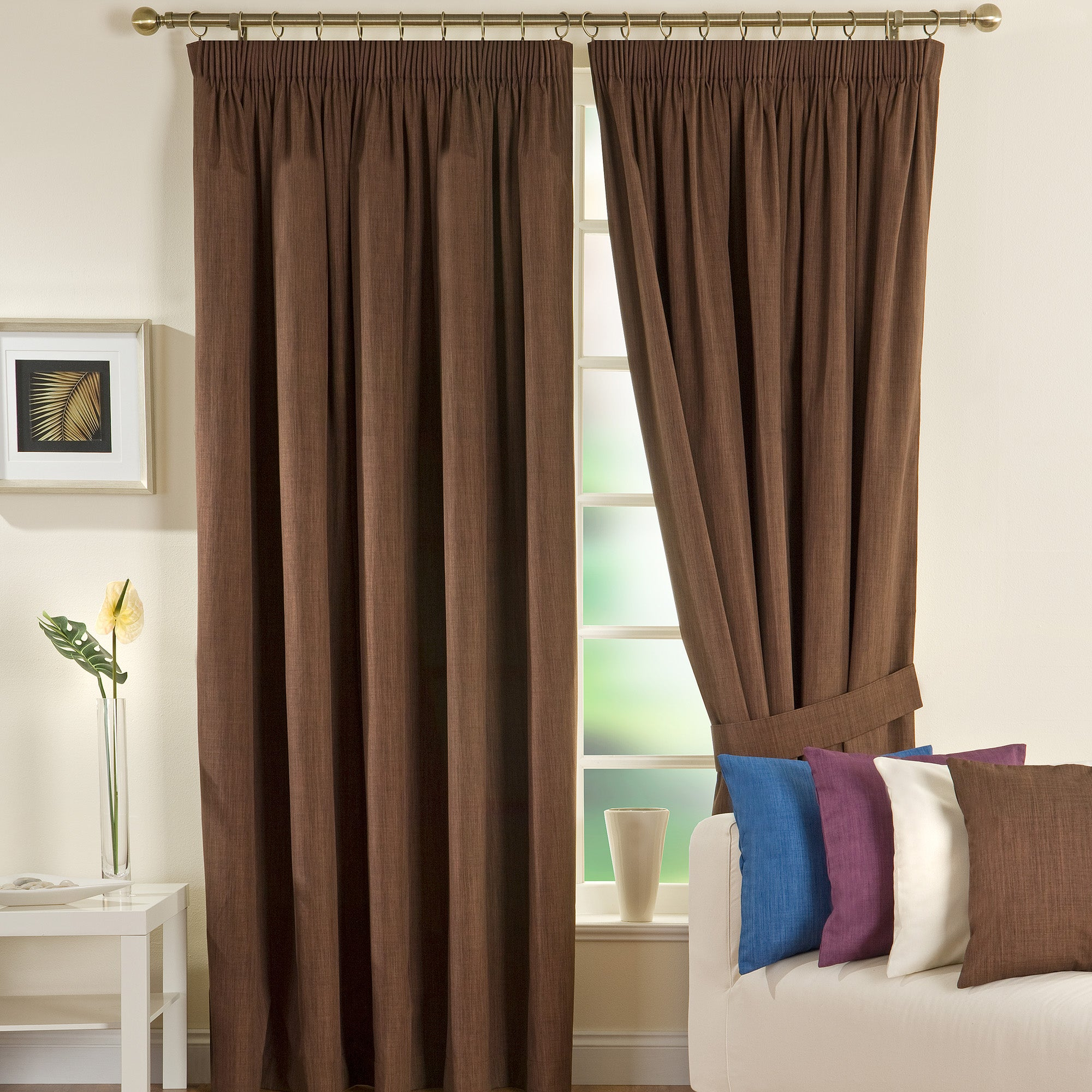 Waters and Noble Chocolate Solar Blackout Curtains