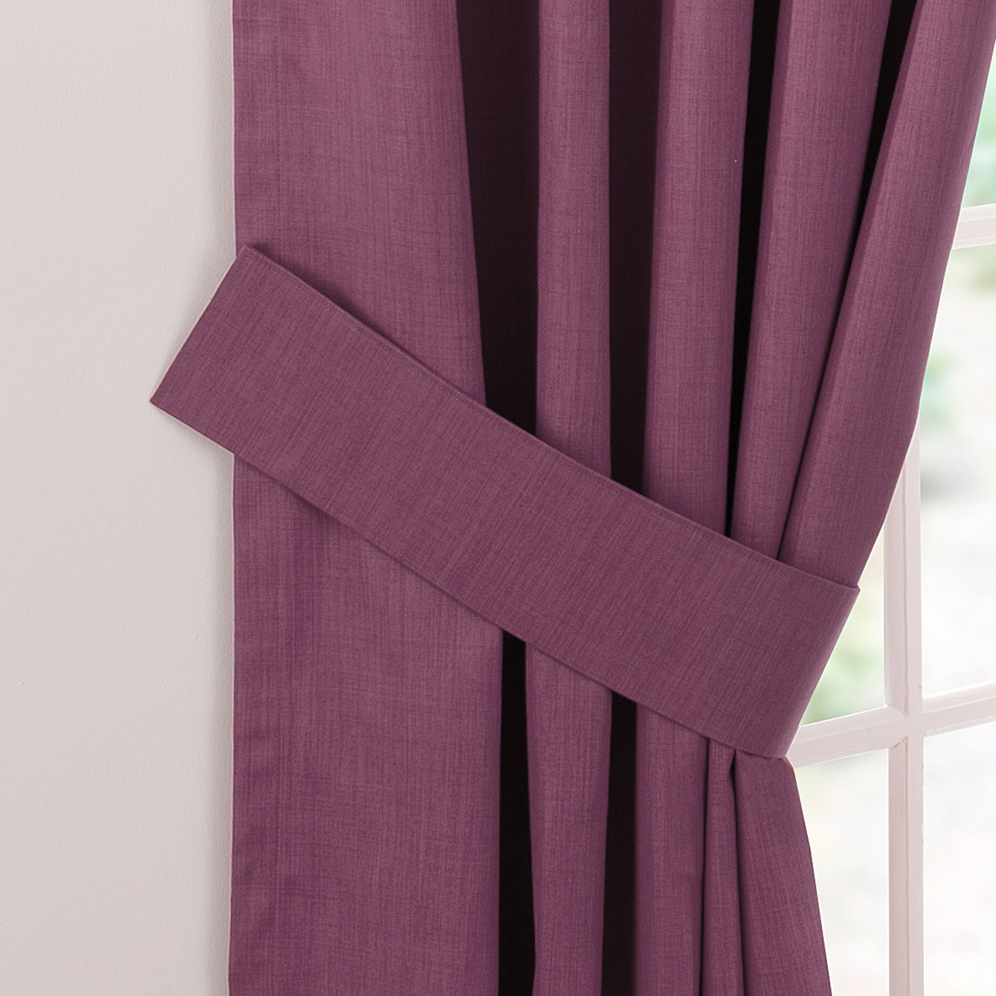 Waters and Noble Aubergine Solar Curtain Tiebacks