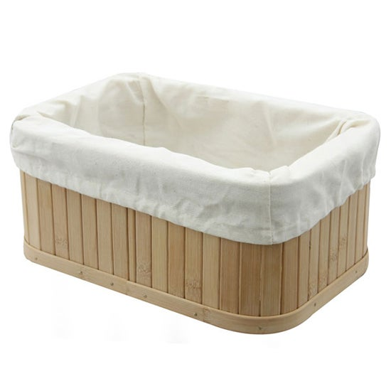 Woodford Rectangular Bamboo Storage Basket