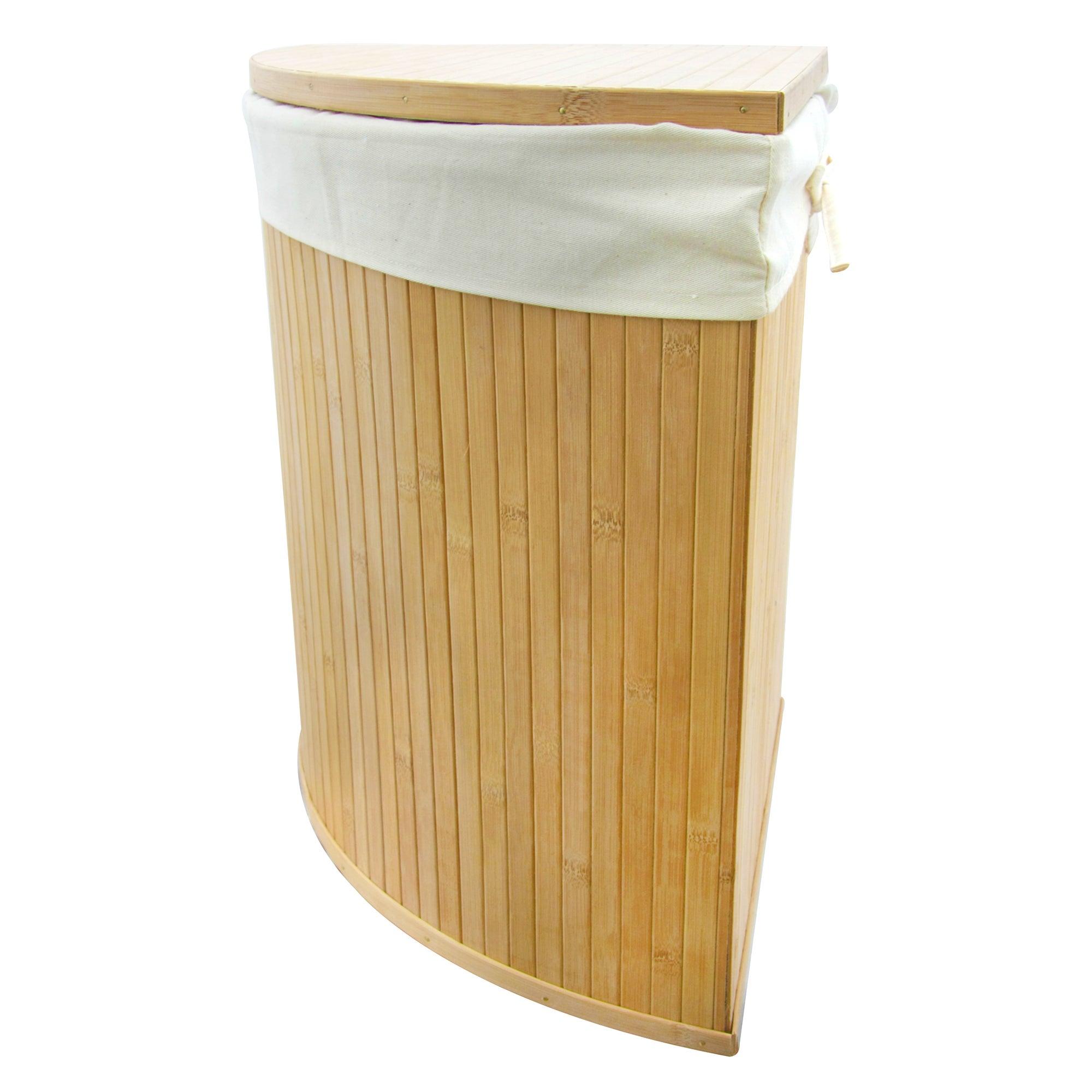Woodford corner bamboo laundry hamper dunelm - Corner hamper with lid ...