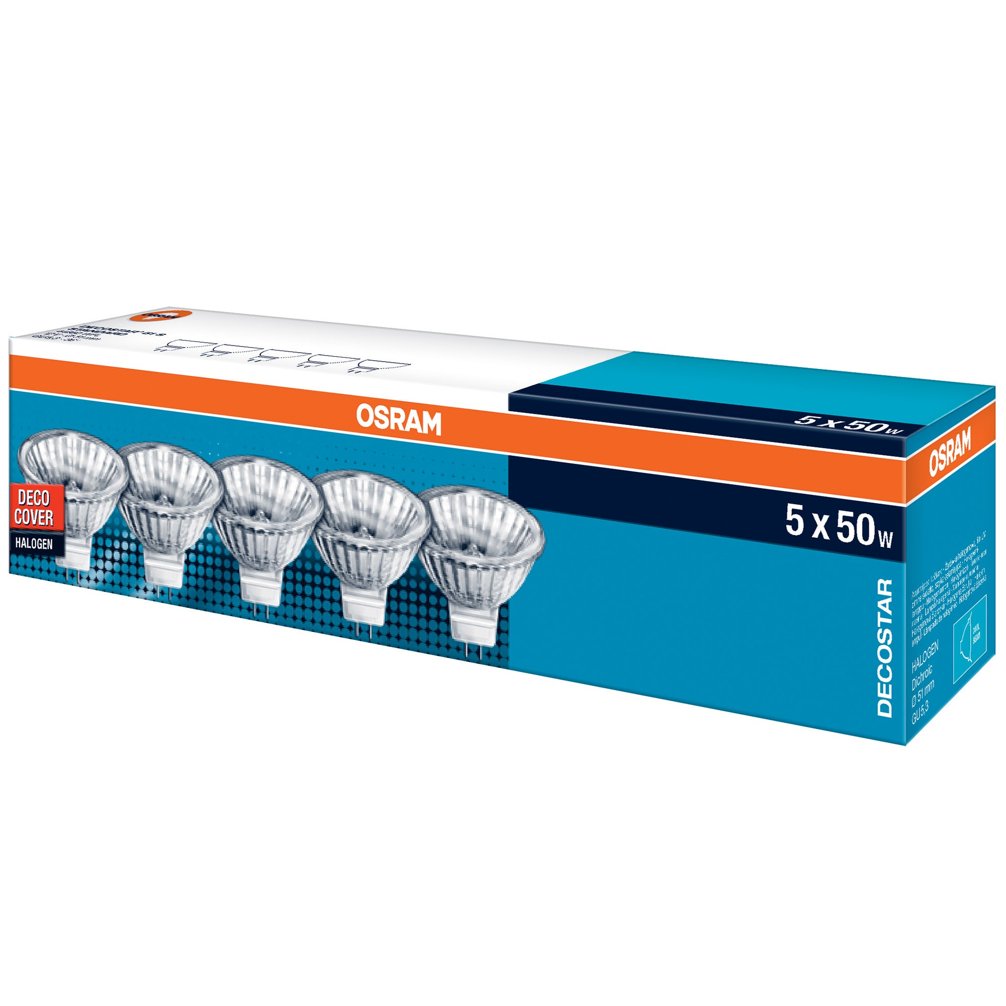 Osram 50 Watt Halogen Bulb 5 Pack
