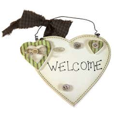 Key Lime Collection Heart Welcome Sign