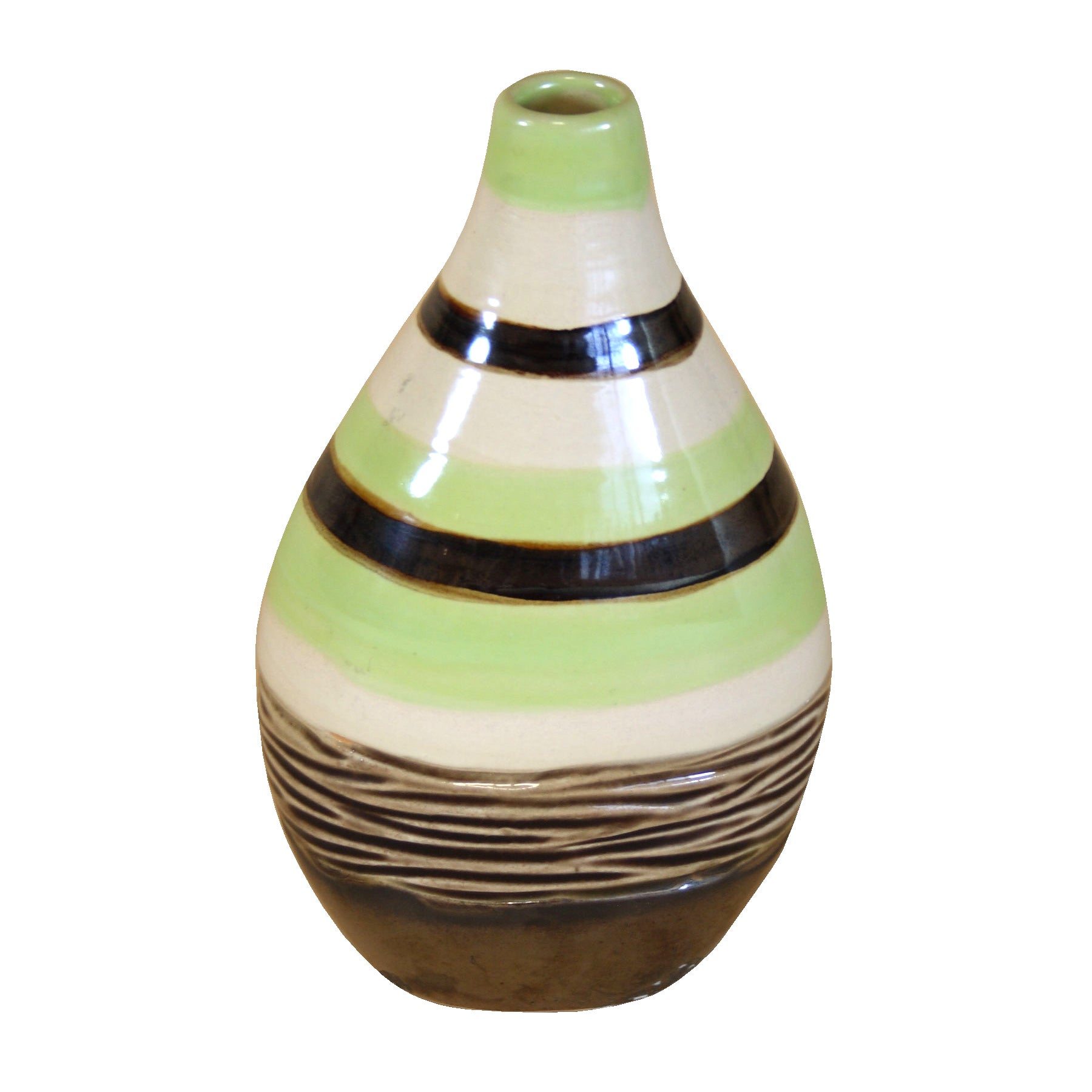 Key Lime Collection Stripey Bud Vase