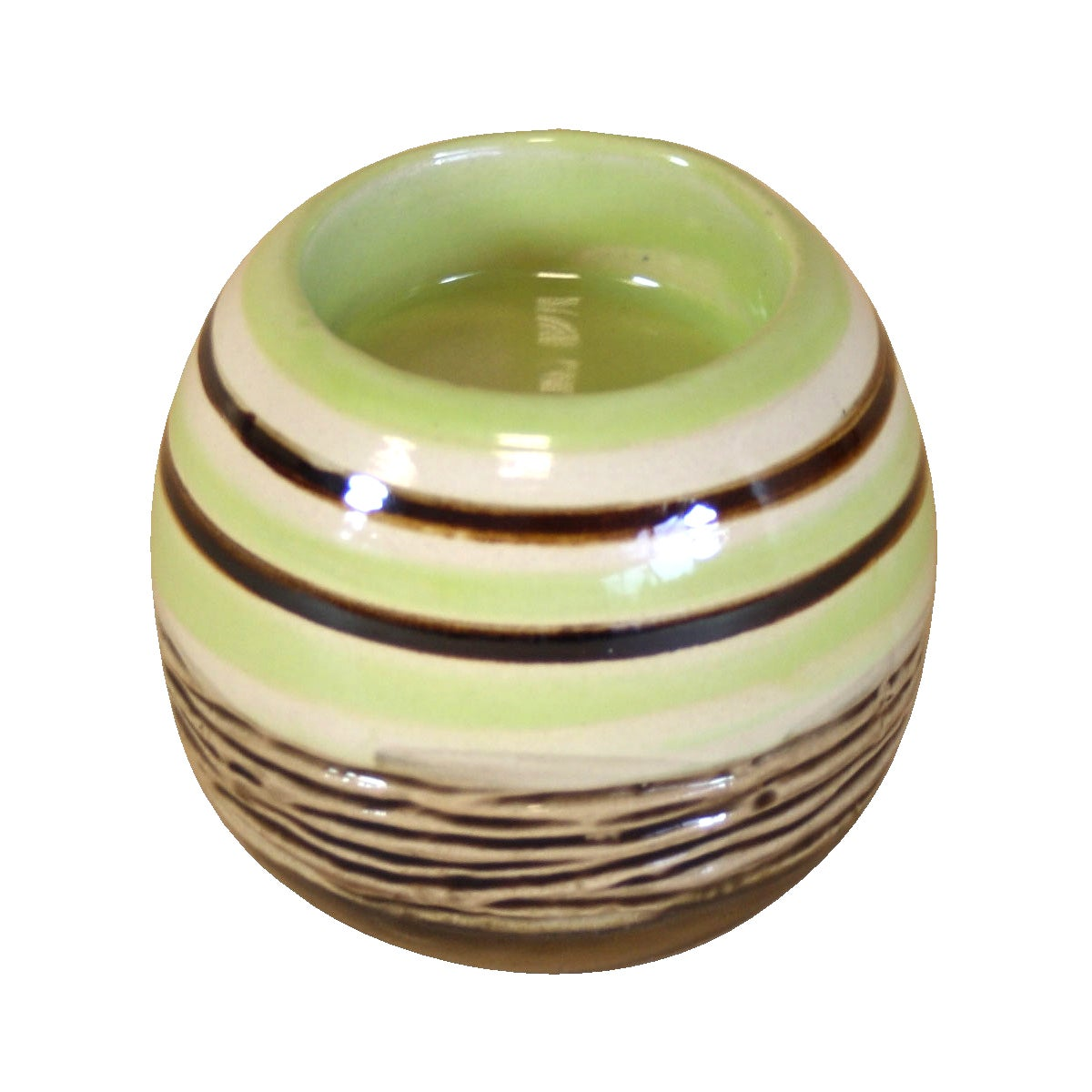 Key Lime Collection Stripey Tea Light Holder