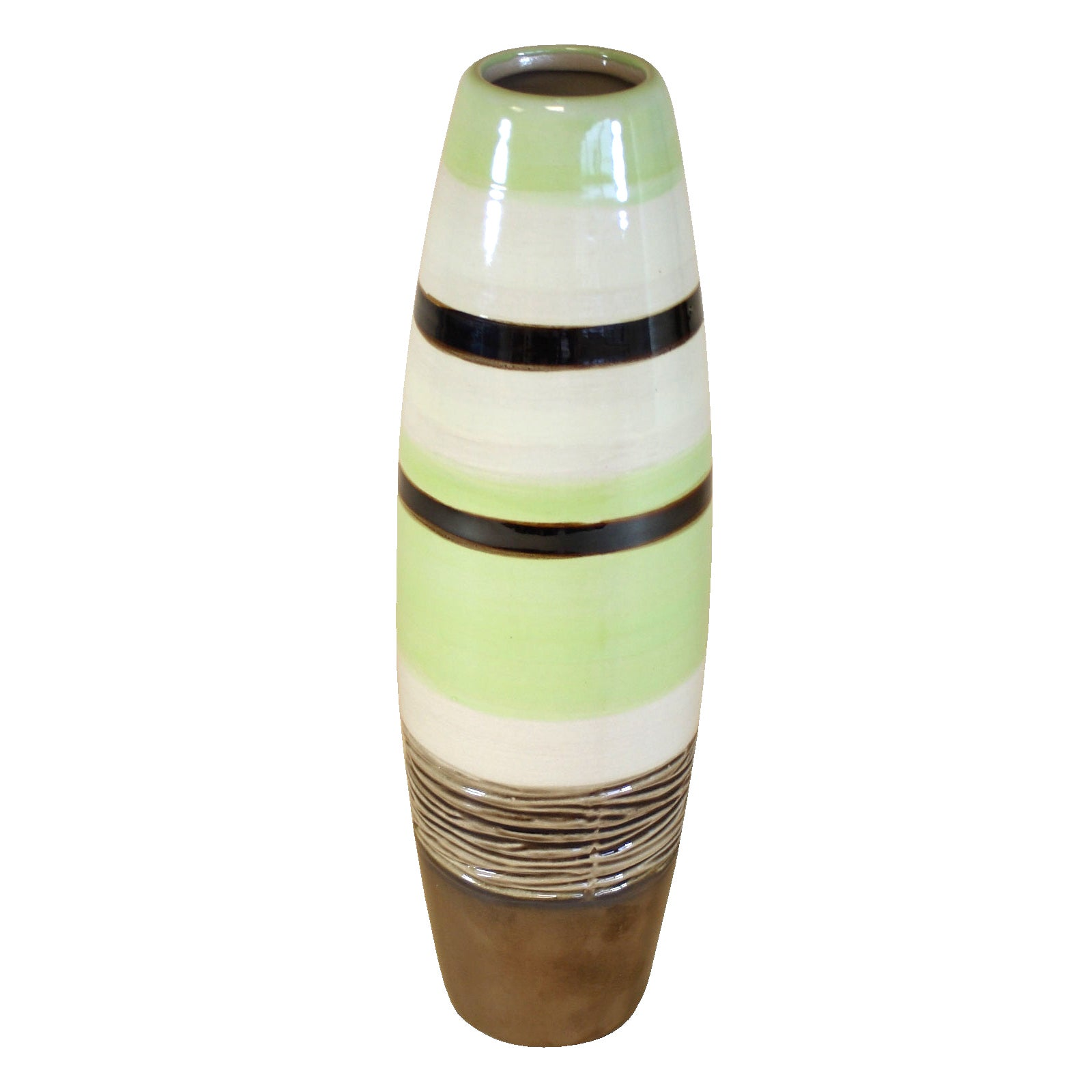 Key Lime Collection Stripey Texture Bullet Vase