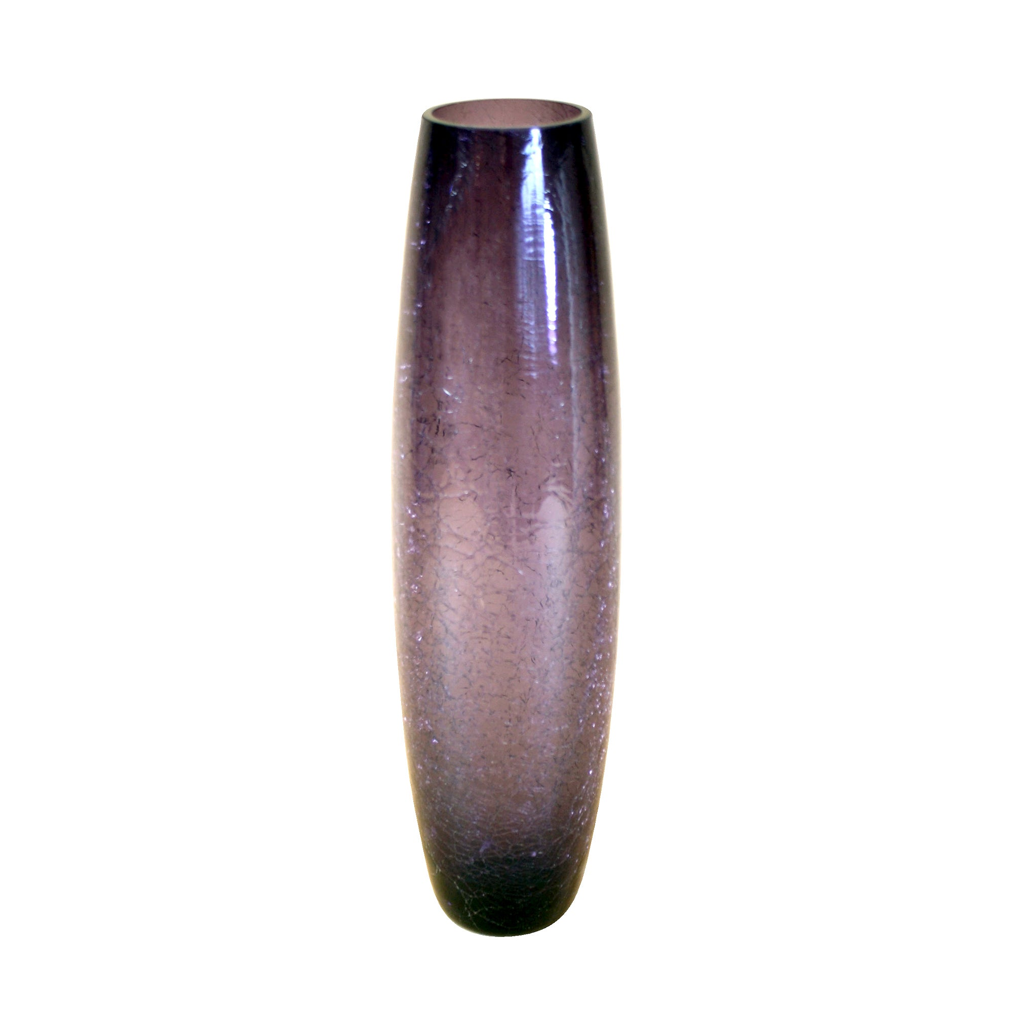 Plum Pudding Collection Crackle Glass Bullet Vase