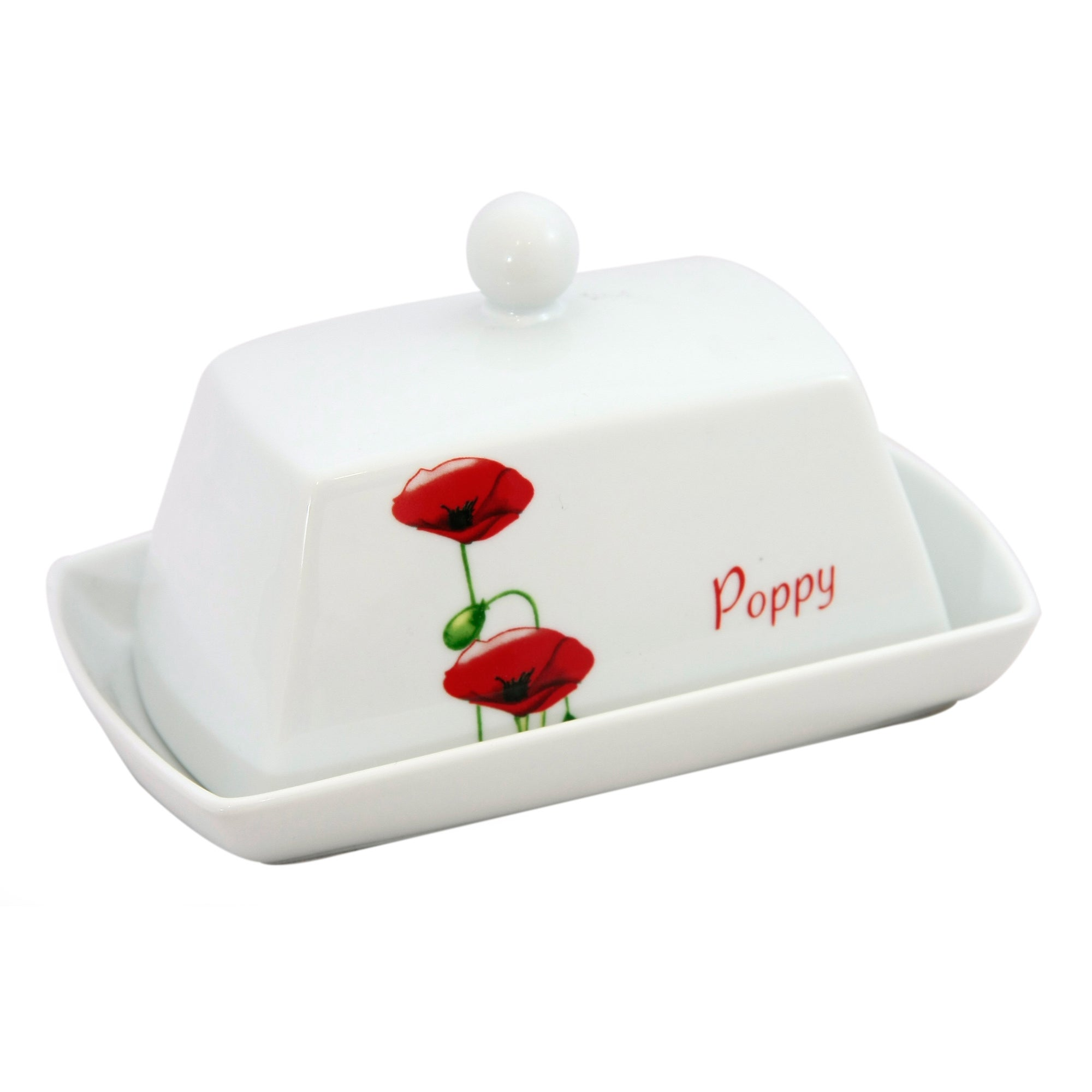 Poppy Collection Butter Dish