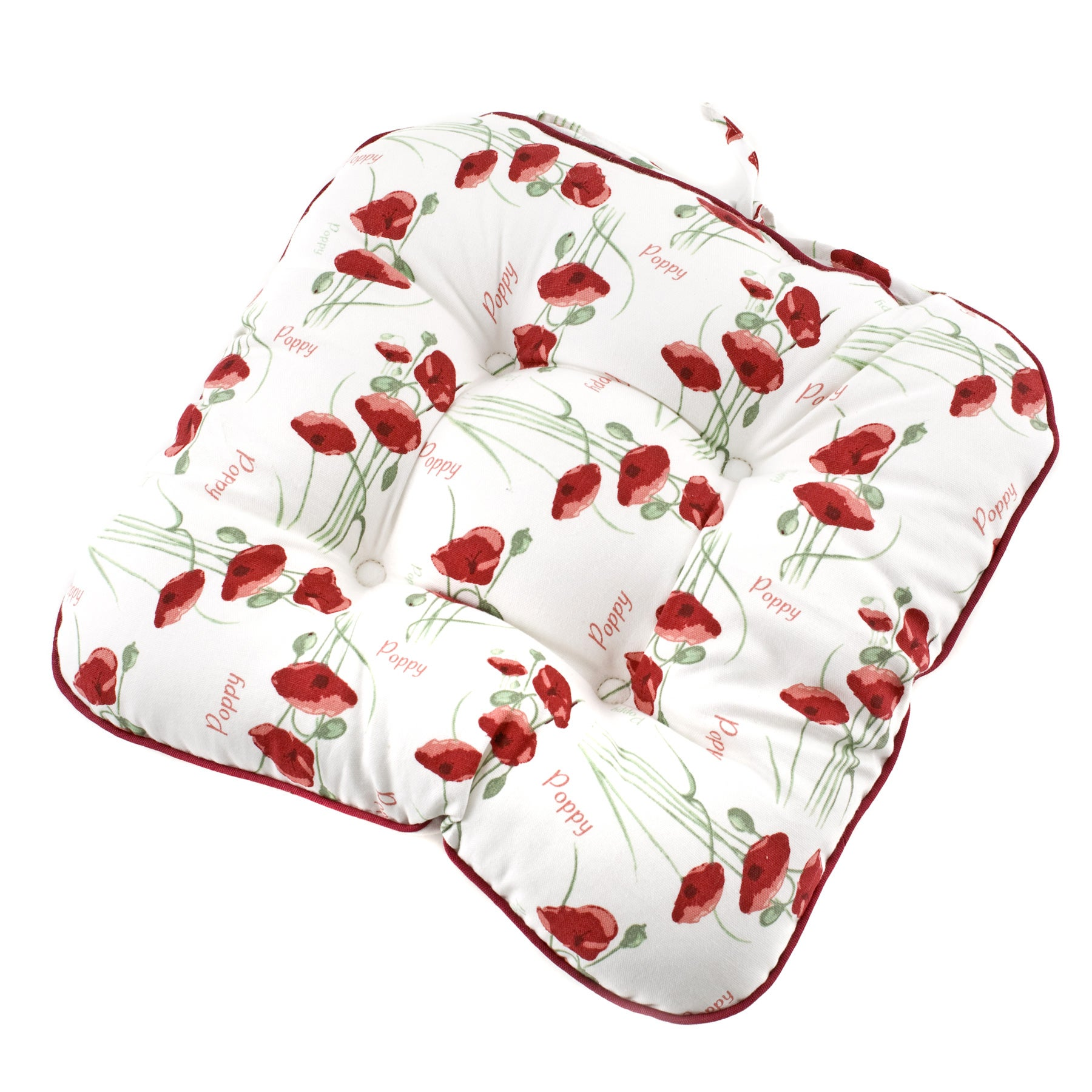 Red Poppy Collection Filled Seat Pad