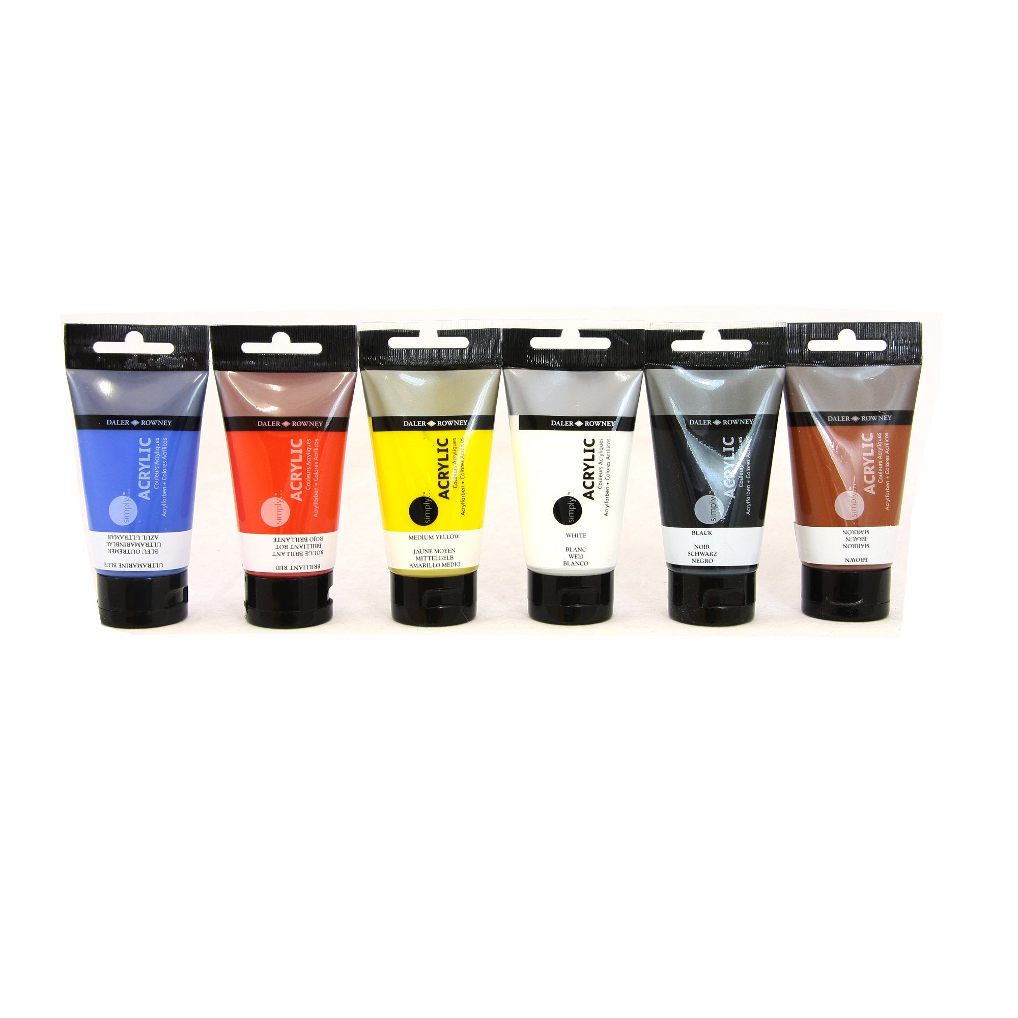 Daler Rowney Simply Set of 6 Acrylic Paints