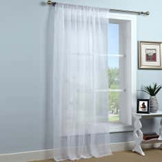 White Sheer Elegance Voile Panel