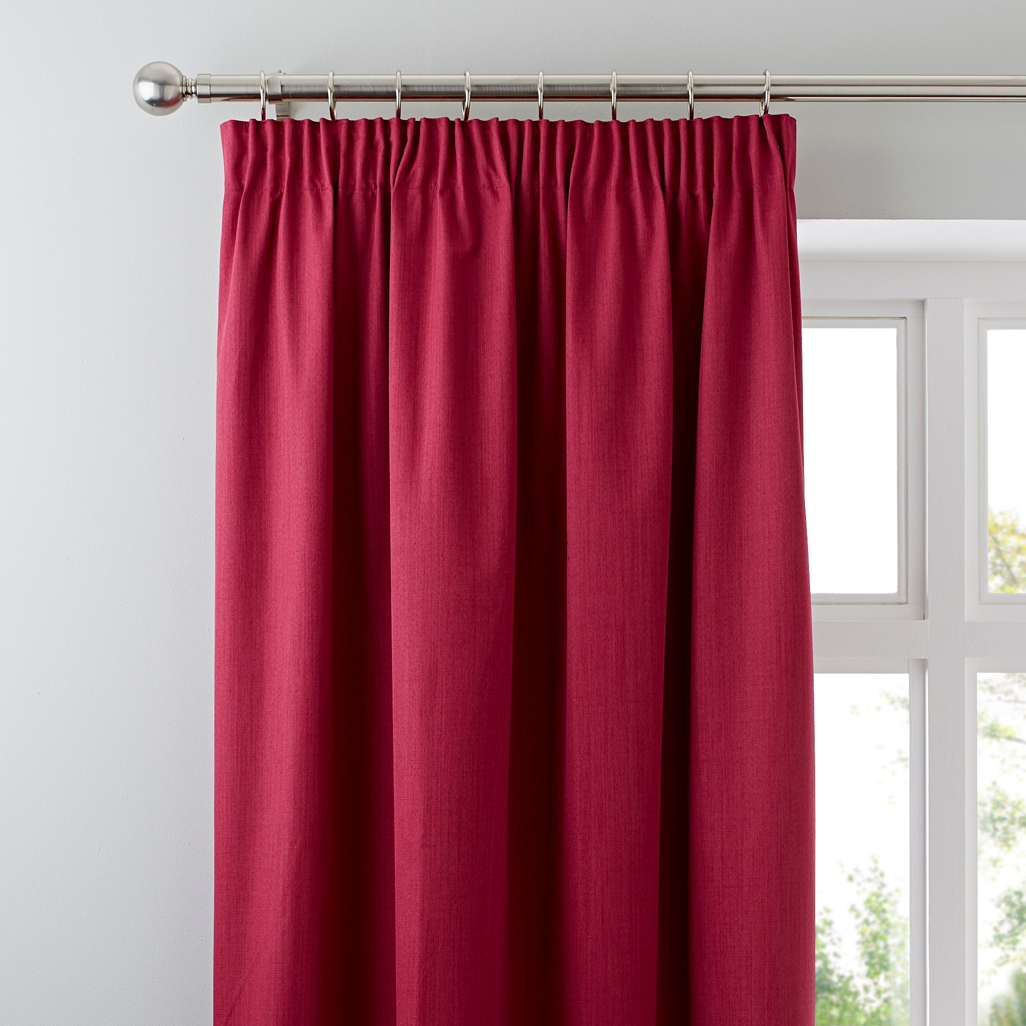 Waters and Noble Fuchsia Solar Blackout Pencil Pleat Curtains
