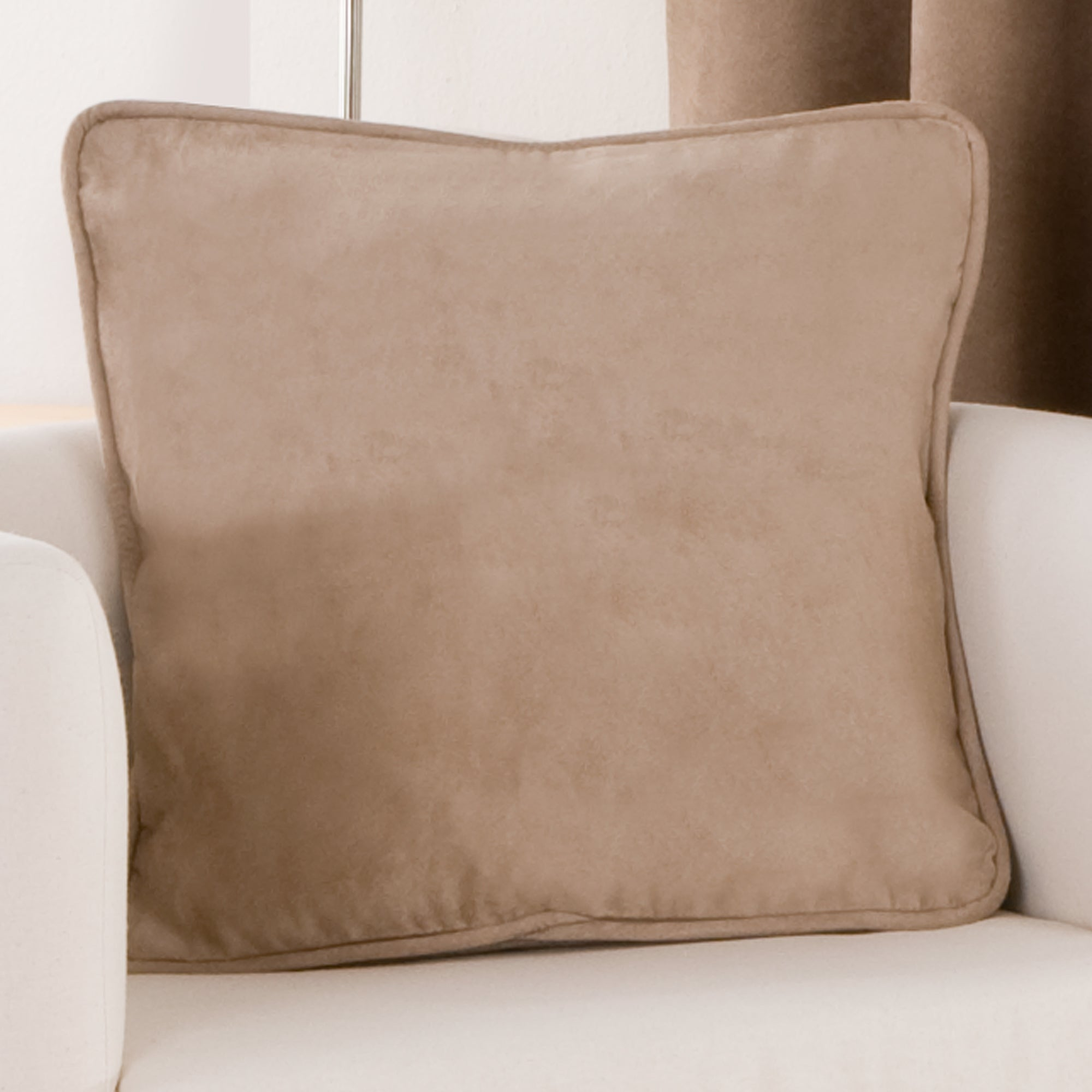 Latte Suede Blackout Cushion
