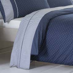 Dorma Blue Capri Collection Flat Sheet