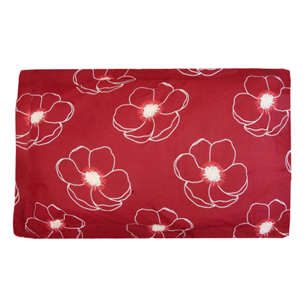 Red Poppy Collection Oxford Pillowcase