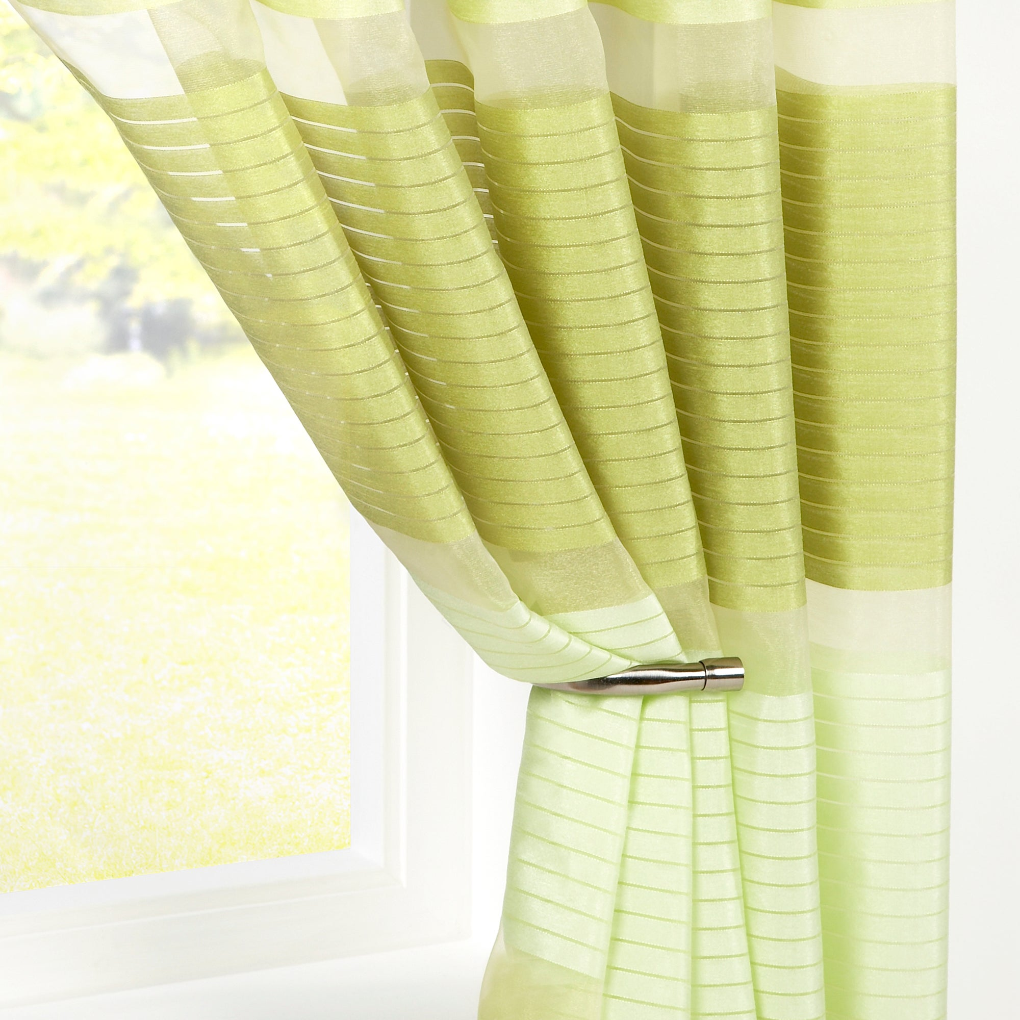 Green Horizon Voile Panel
