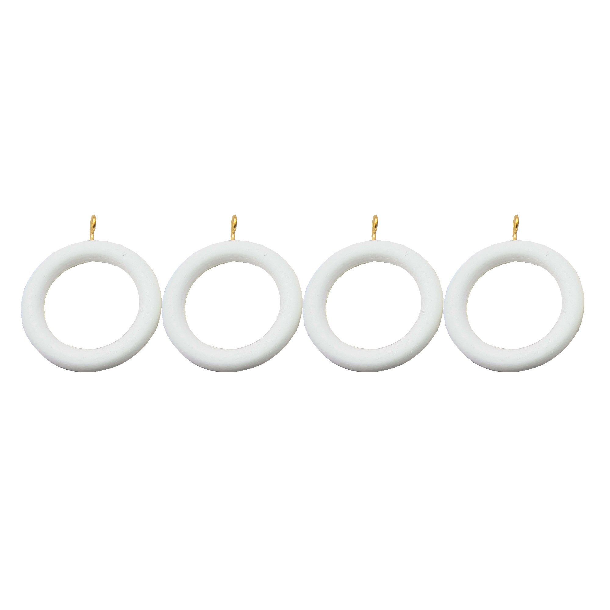 White Vermont Collection Curtain Rings