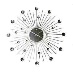 Bolton Sunray Metal Wall Clock