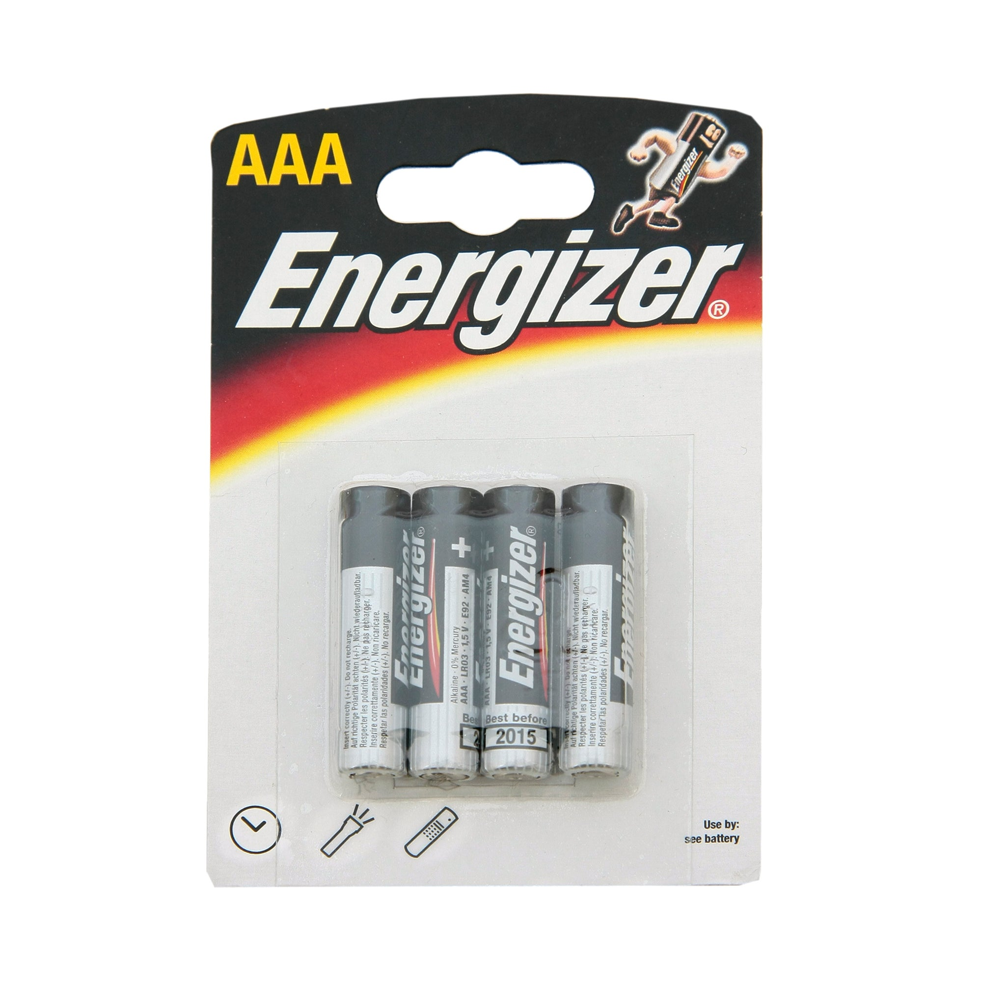 Energizer Alkaline Classic AAA Pack of 4 Batteries