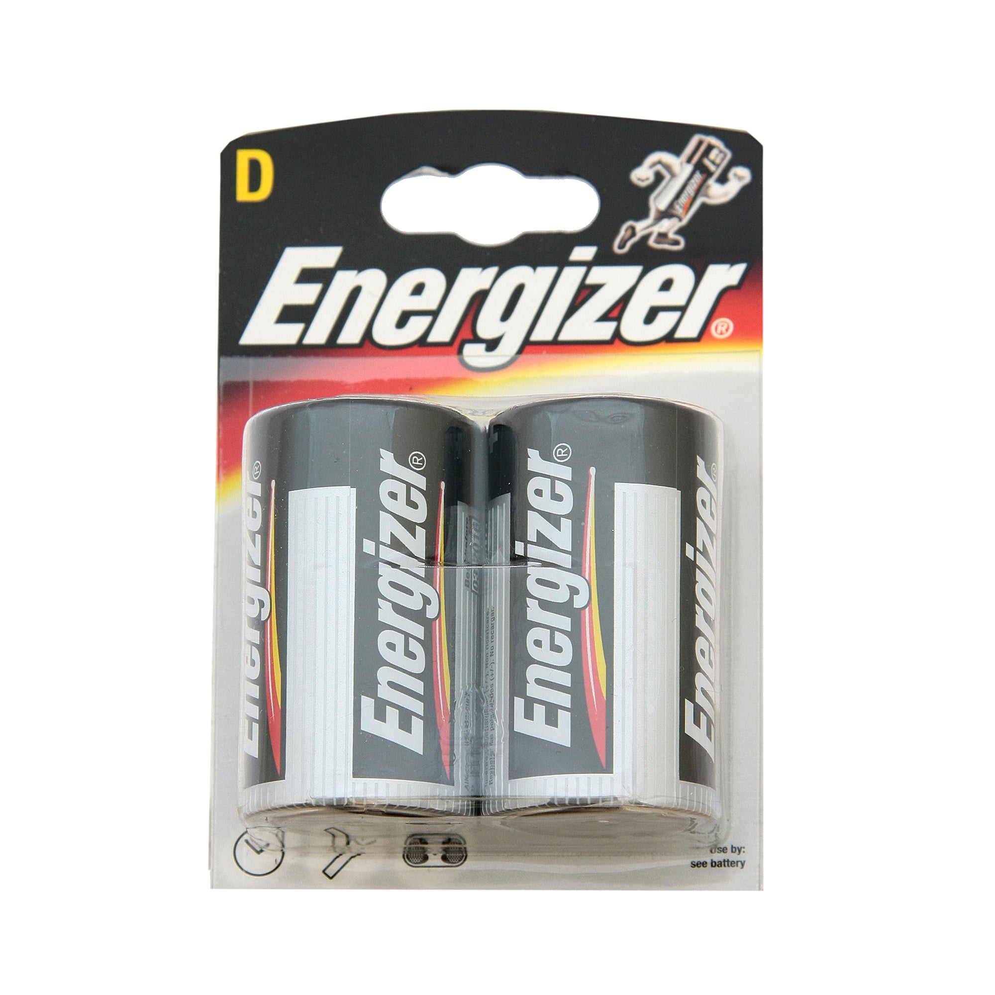 Energizer Alkaline Classic D Pack of 2 Batteries