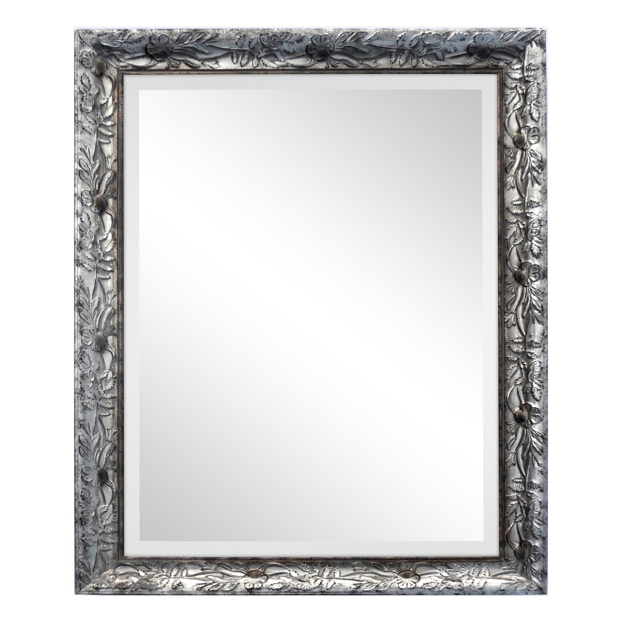 Bevelled Floral Frame Mirror