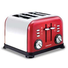 Morphy Richards Accents Red 4 Slice Toaster