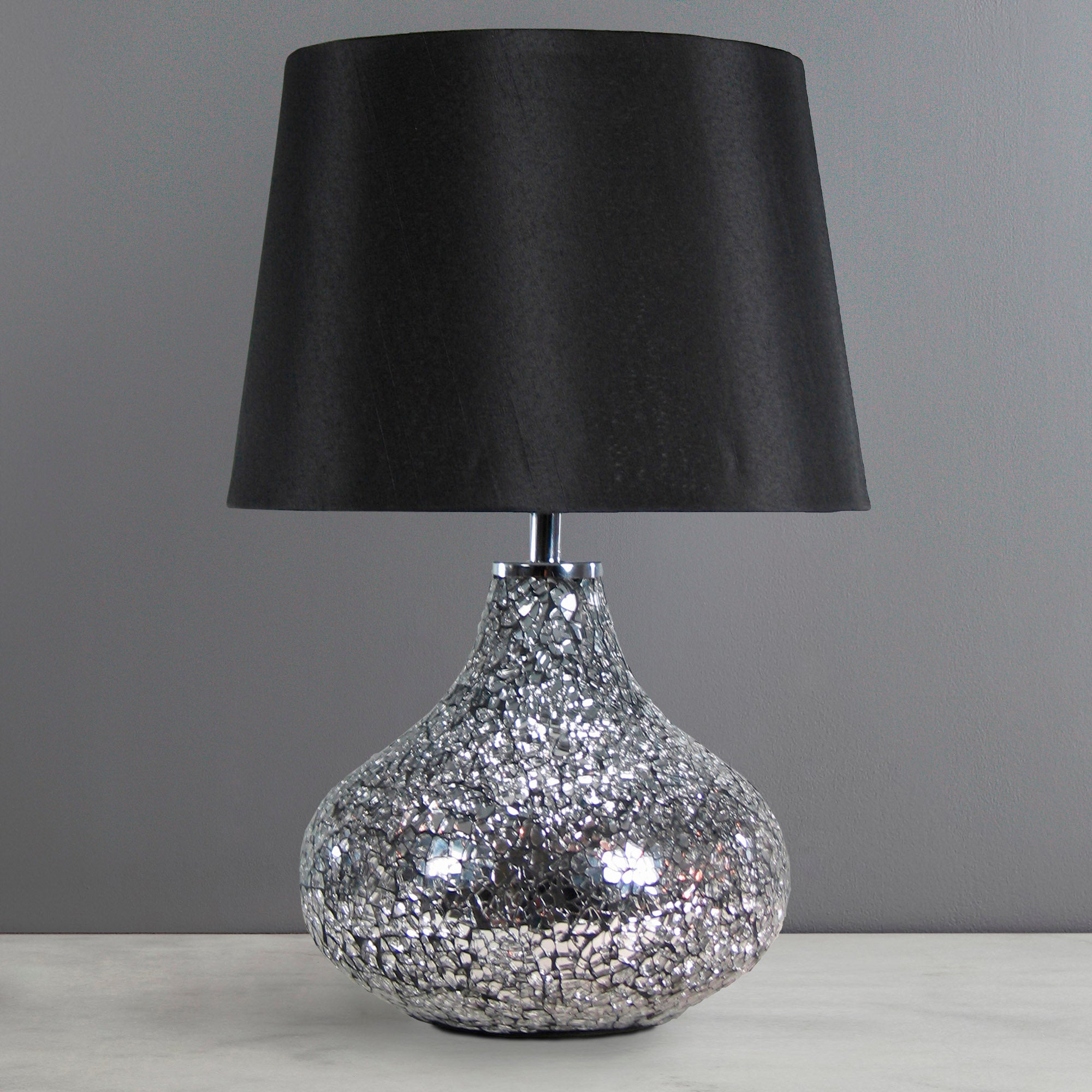 Crackle Glass Lamp