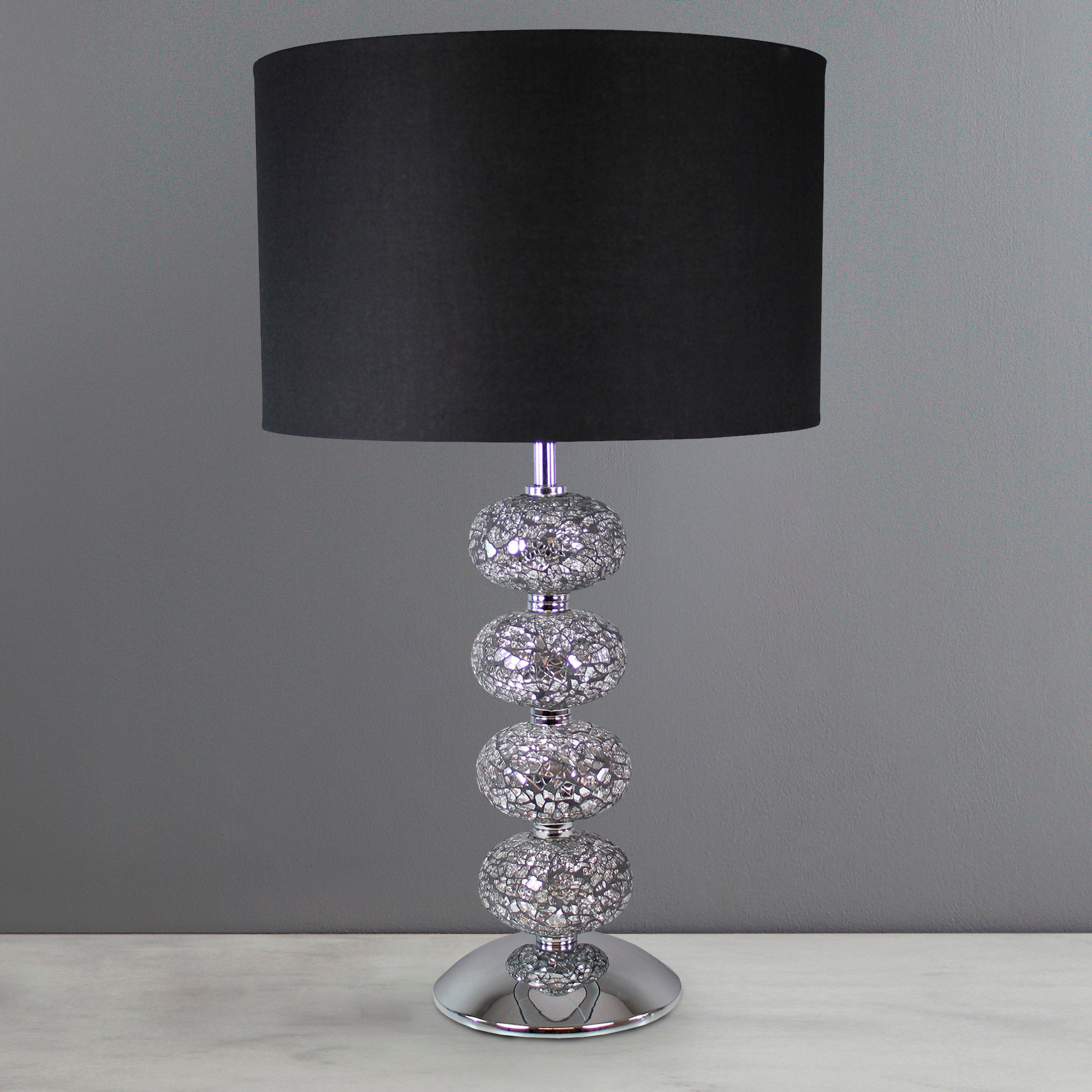 Crackle Glass 4 Ball Lamp