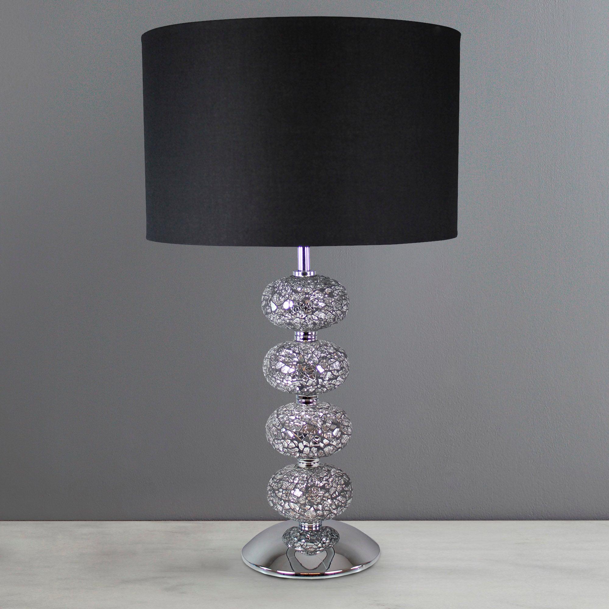 crackle glass 4 ball lamp dunelm. Black Bedroom Furniture Sets. Home Design Ideas
