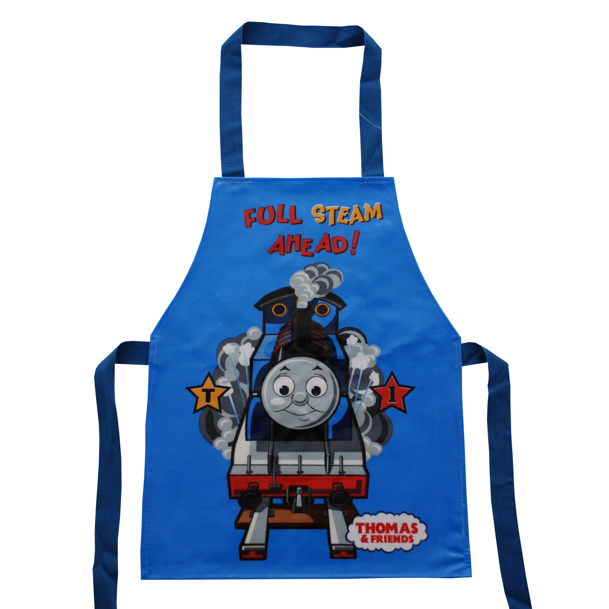 Kids Thomas the Tank Engine Collection Blue PVC Coated Apron
