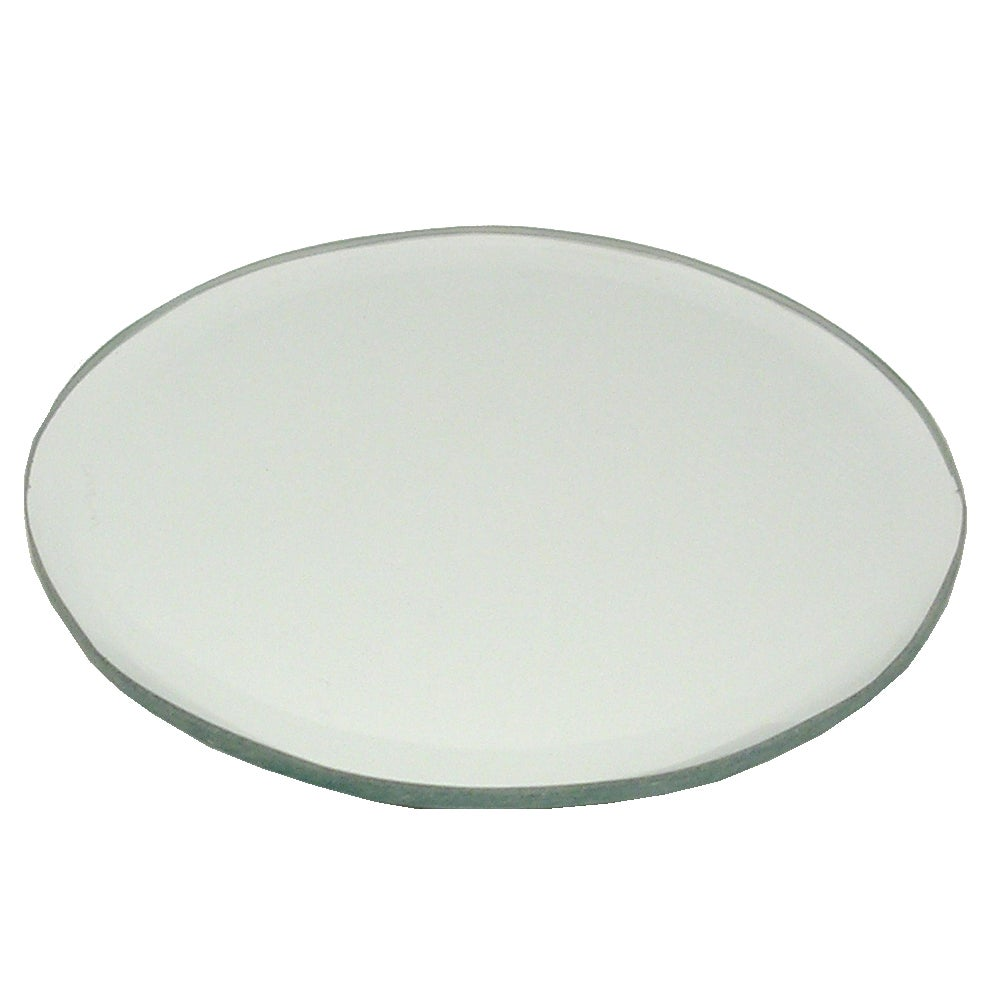 Bevelled Edge Mirror Candle Plate