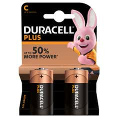 Duracell Plus C Batteries Pack of 2