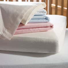 Kids Pair of Flat Cot Bed Flannelette Sheets