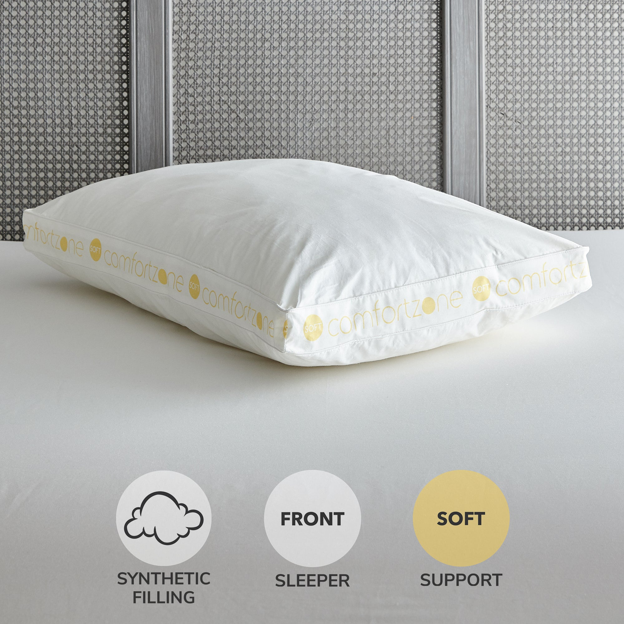 Comfort Zone Hollowfibre Soft Support Pillow