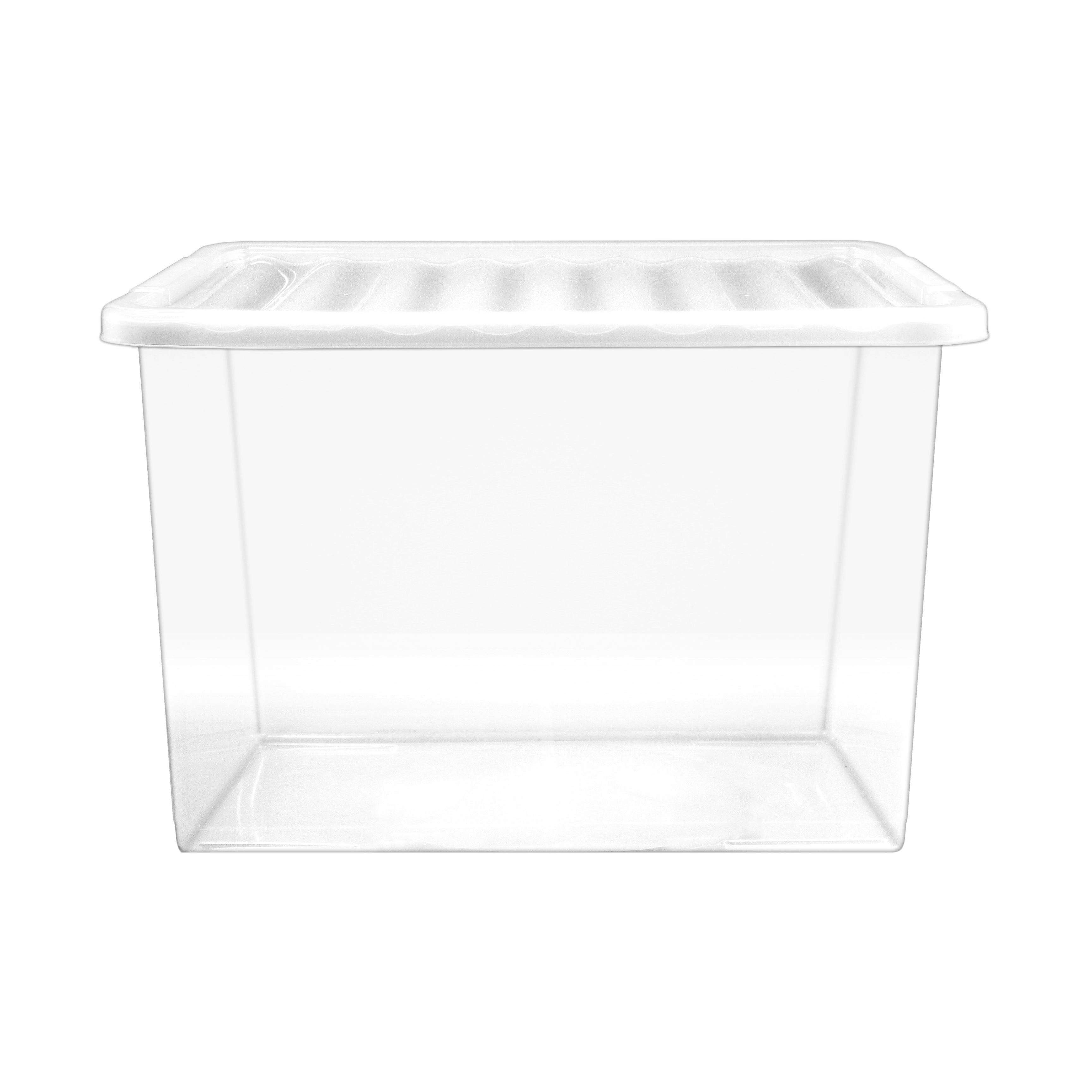 30L Plastic Storage Box with Lid