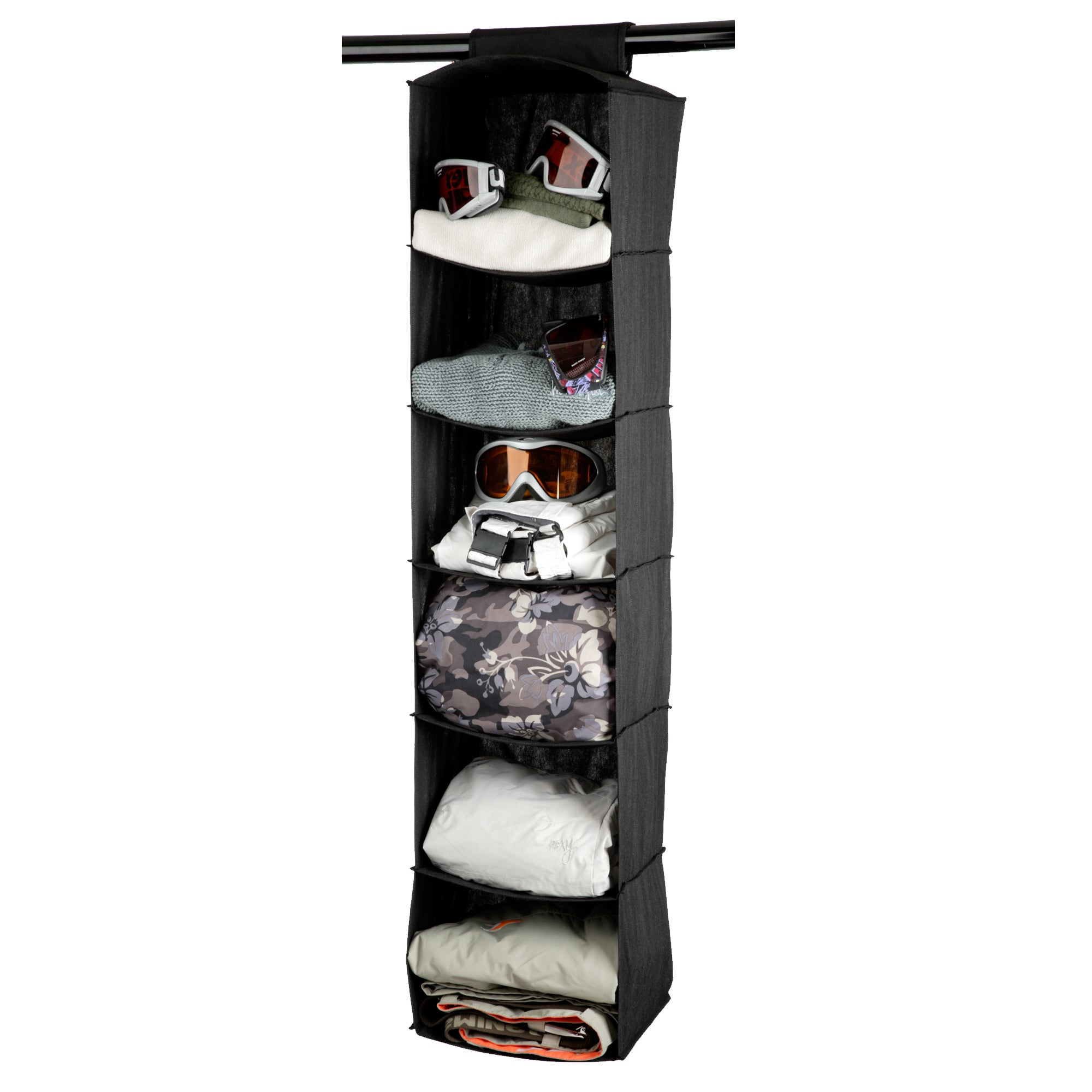 Black Non Woven Collection Hanging Sweater Organiser