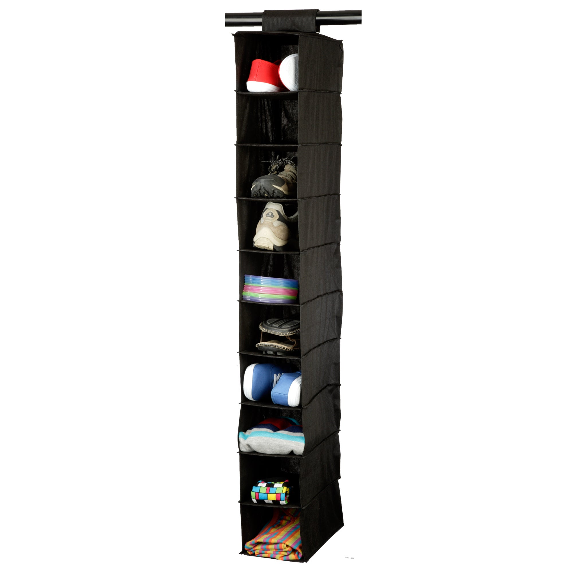 Black Non Woven Collection Hanging Shoe Organiser