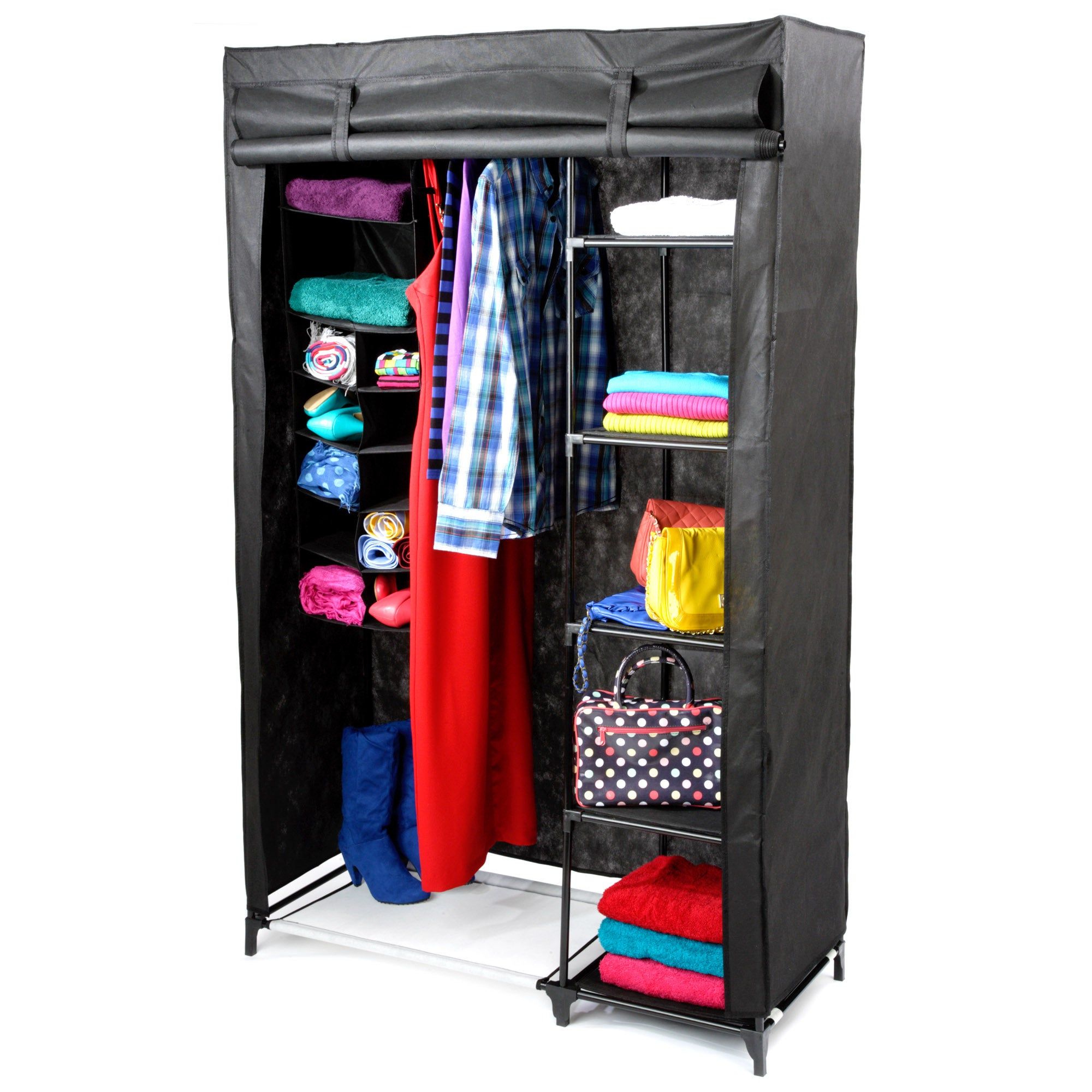 Kids Non Woven Wardrobe with Shelves