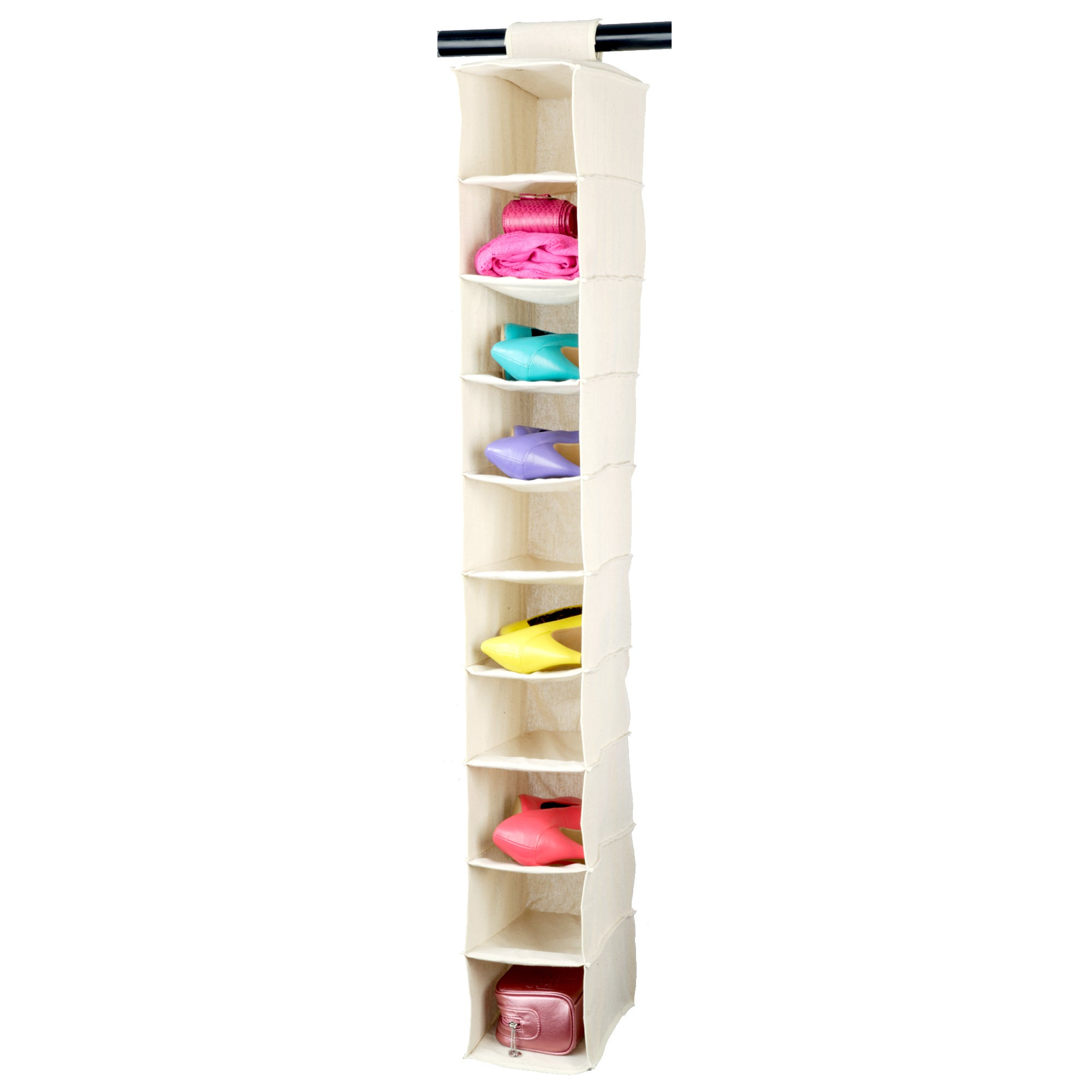 100% Cotton Collection Hanging Shoe Organiser