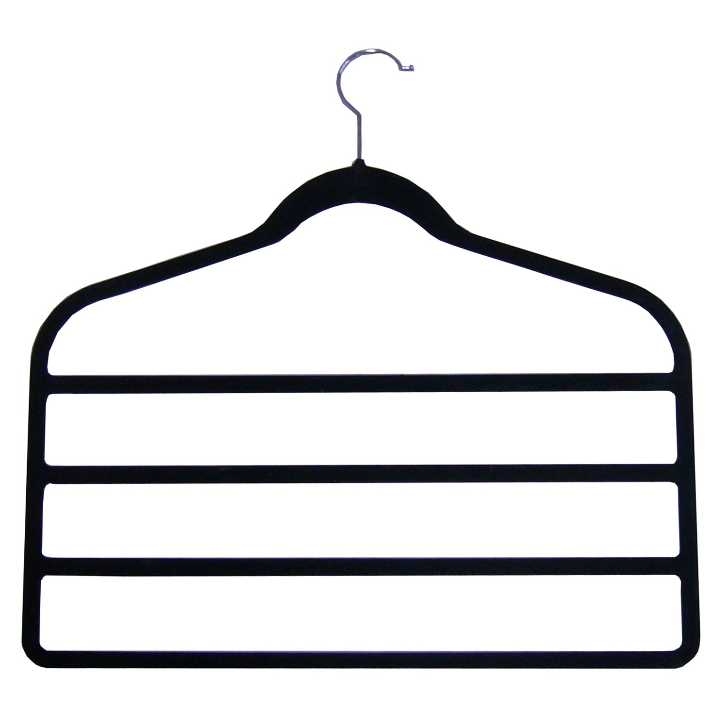 Set of 2 Black Flocking Trouser Hangers