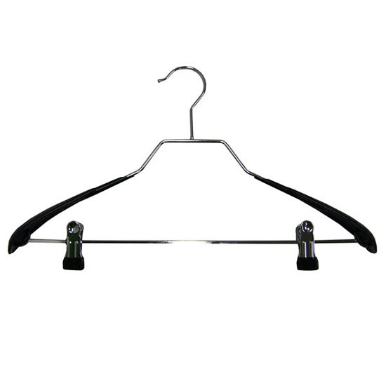Set of 3 Wire Hangers with Metal Clips
