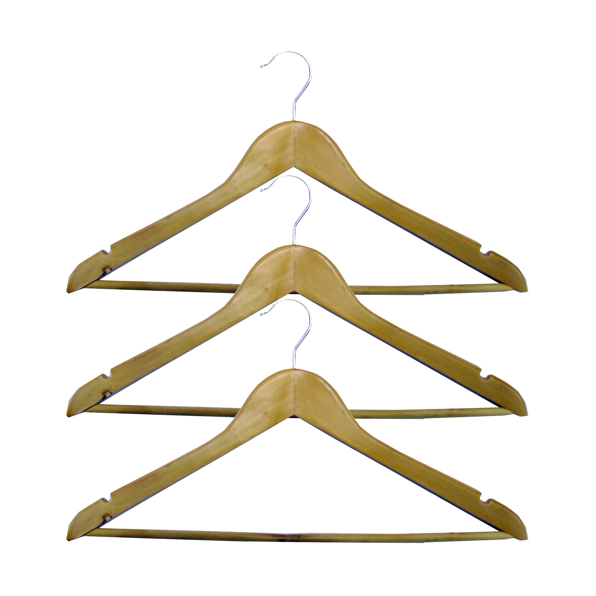 Set of 3 Brown Hangers with Bar
