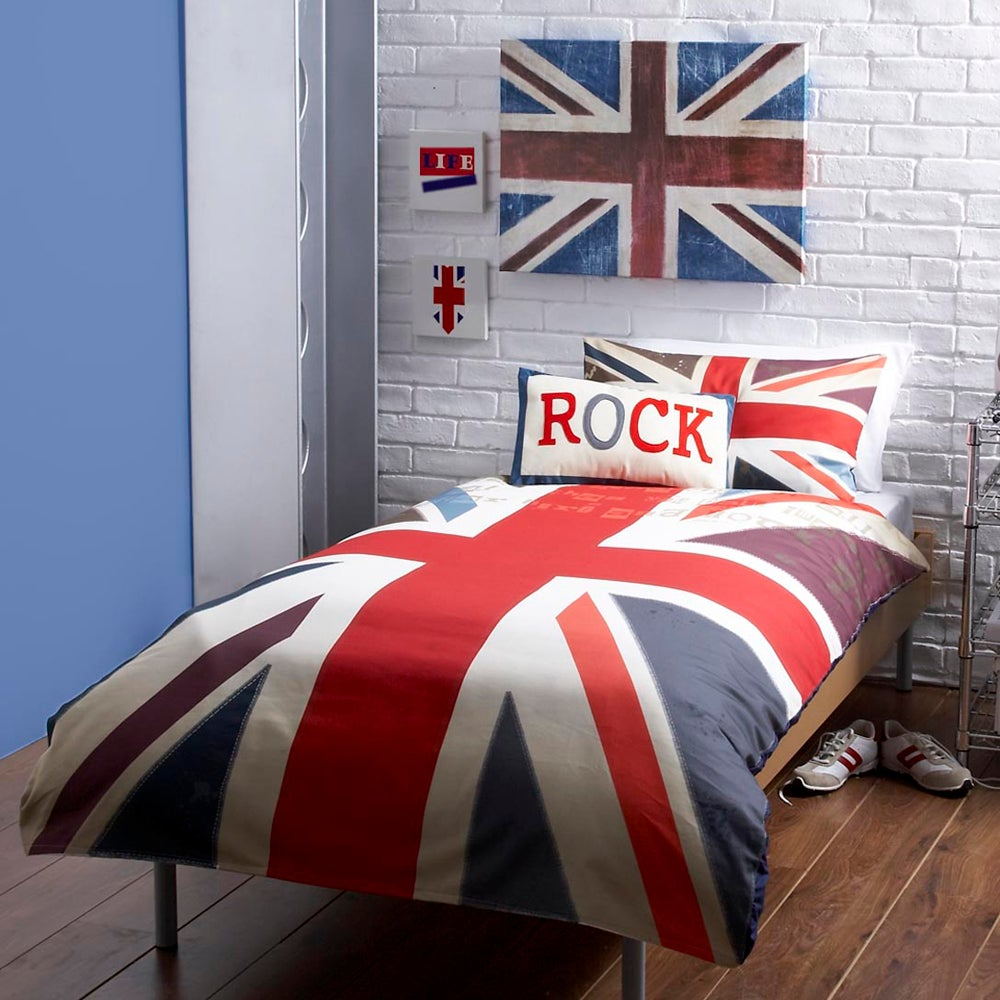Kids Union Jack Collection Duvet Cover Set Multi Coloured