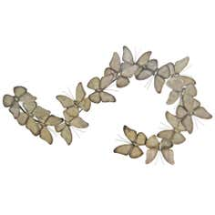 Metal Flying Butterflies Wall Art