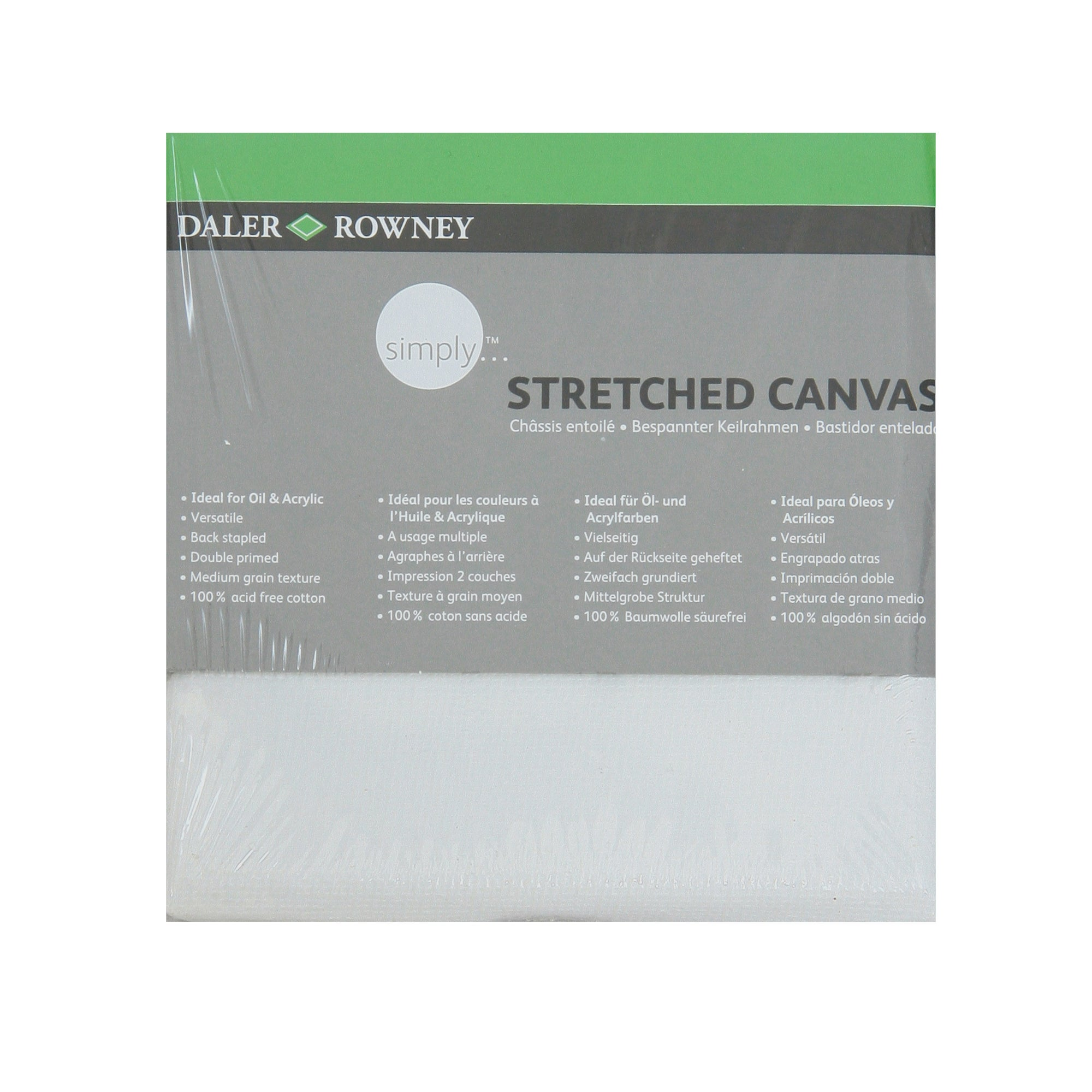 Daler Rowney Simply Stretched Square Canvas
