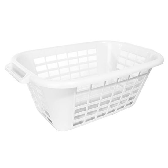 Addis Anti Bacterial 40 Litre White Laundry Basket