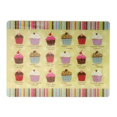 Cupcakes Collection Glass Work Surface Protector