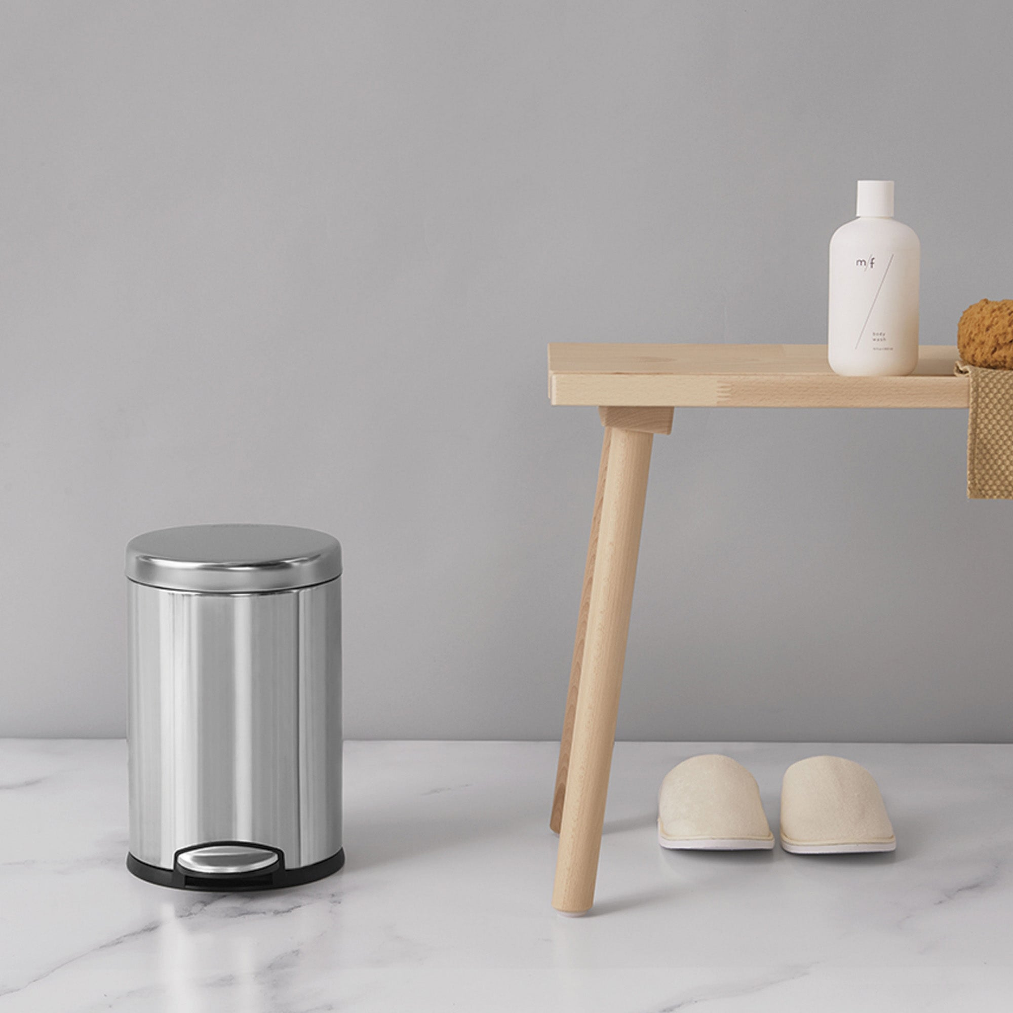 simplehuman Deluxe Round 4.5 Litre Pedal Bin