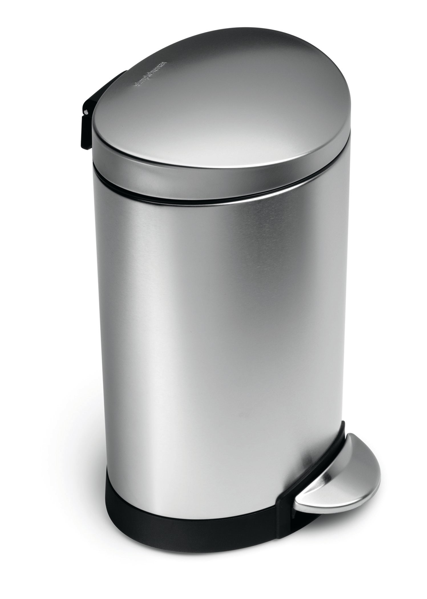 simplehuman Deluxe 6 Litre Semi-Round Stainless Steel Pedal Bin