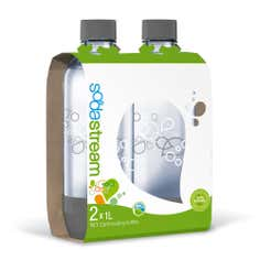 SodaStream Twin Pack of 1L Carbonating Bottles